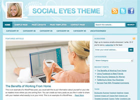 Social Eyes Child Theme