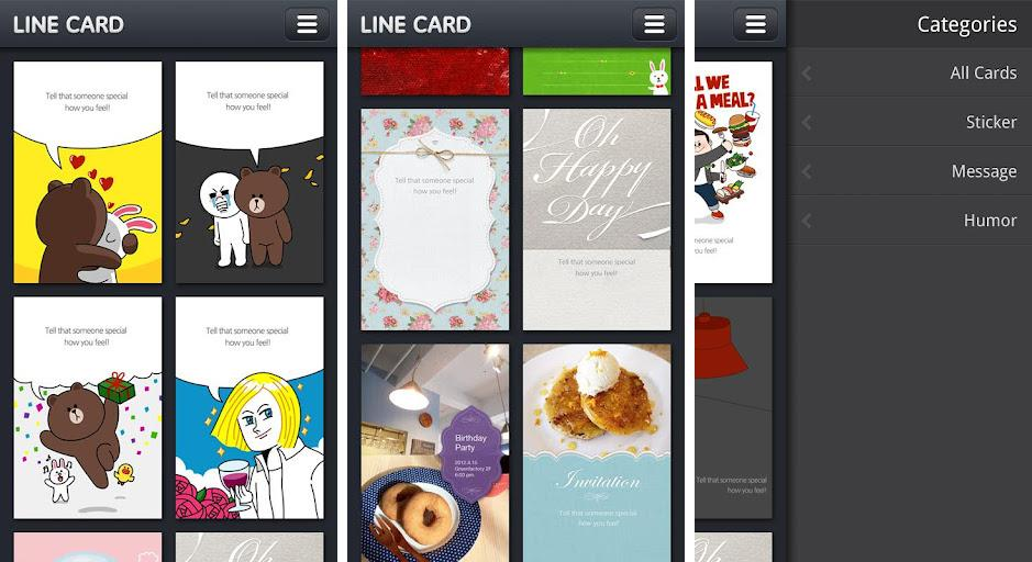 Line cards app