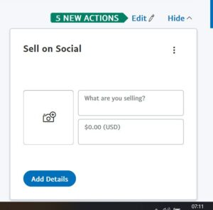 PayPal sell on Social