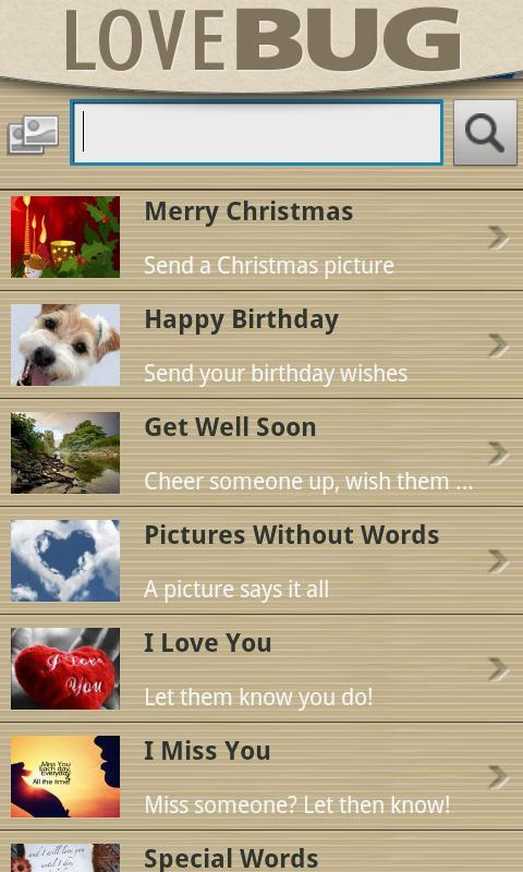 LoveBug android ecard ap